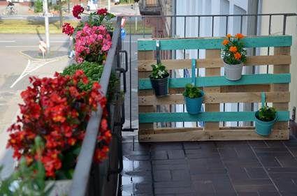 Original celos a para macetas palets pinterest for Celosia de madera para jardin