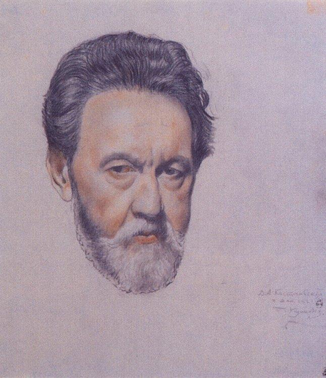 Portrait V.A. Kastalsky - Boris Kustodiev, 1921