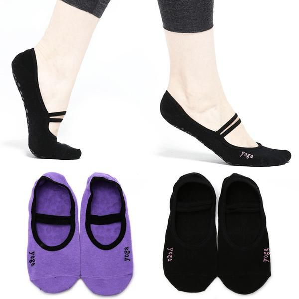 Women's Cotton Yoga Gym Grip Socks