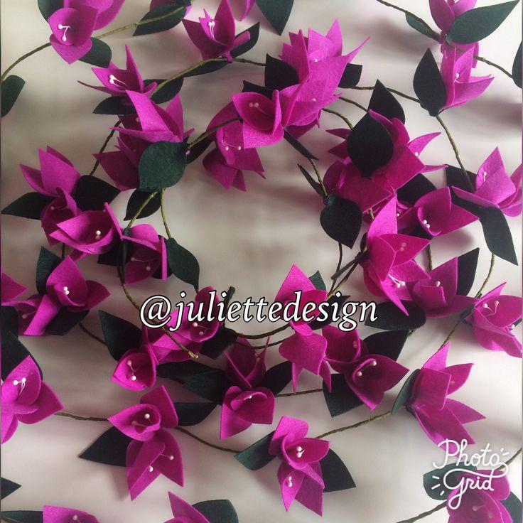 A personal favourite from my Etsy shop https://www.etsy.com/listing/532738193/felt-garland-flower-garland-garland-felt