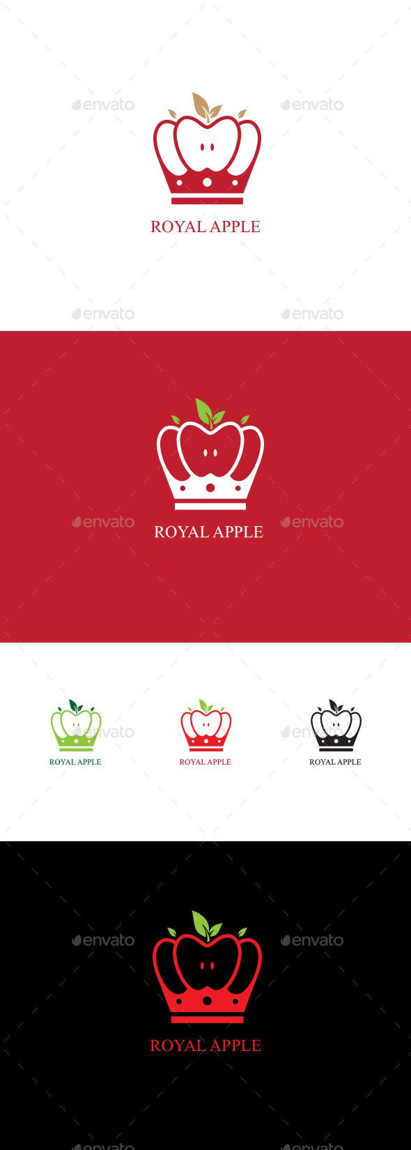 Royal Apple — Vector EPS #Red Apple #royal • Available here → https://graphicriver.net/item/royal-apple/12868920?ref=pxcr