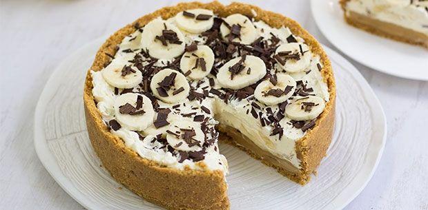Simple no bake banoffee pie