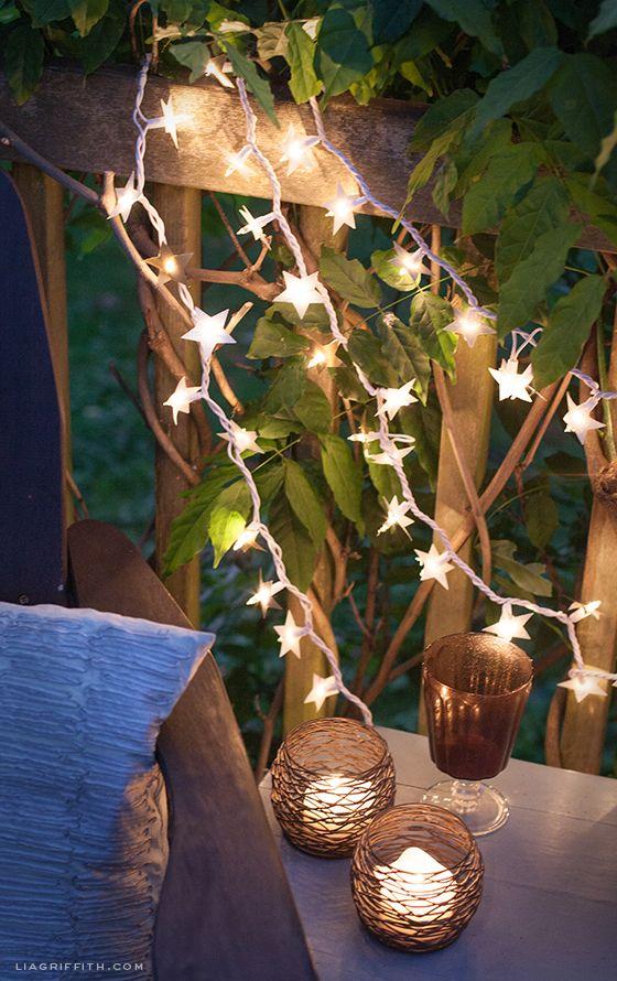"Make your Christmas Lights do double duty with this super easy ""starry night"" tutorial!"