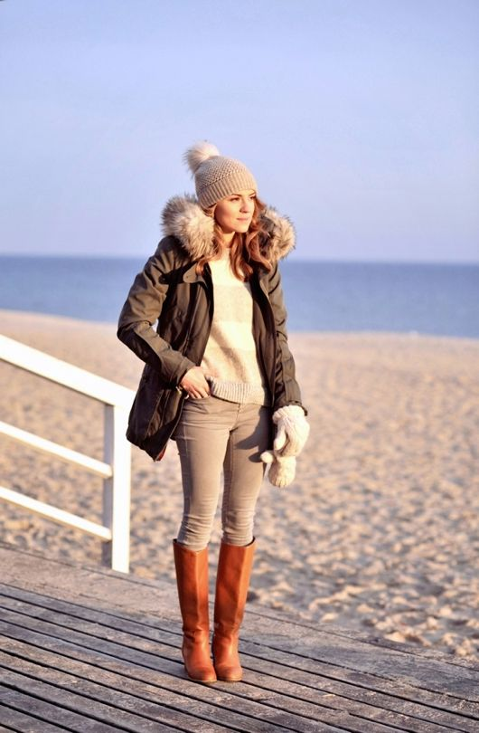 Image result for winter outfit on beach