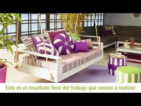 Construye un balancín para tu jardín (Leroy Merlin) - YouTube