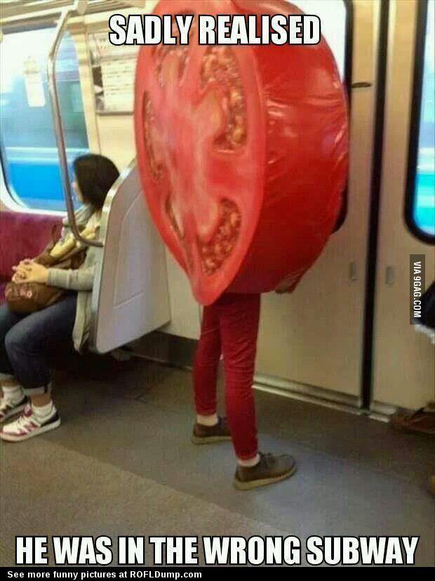 Wrong subway #meme #funny #tomato #subway #lol