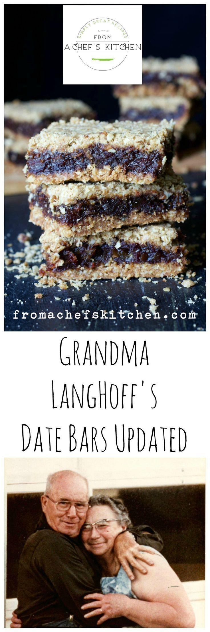 Grandma Langhoff's Date Bars Updated