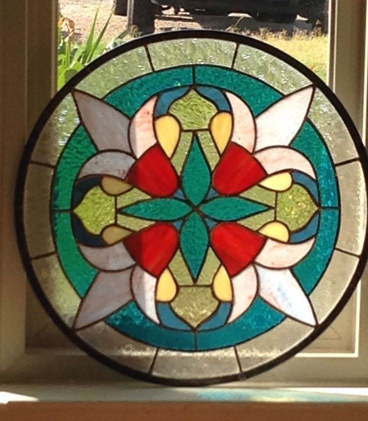 Suncatcher Victorian Stained Glass Panel | eBay