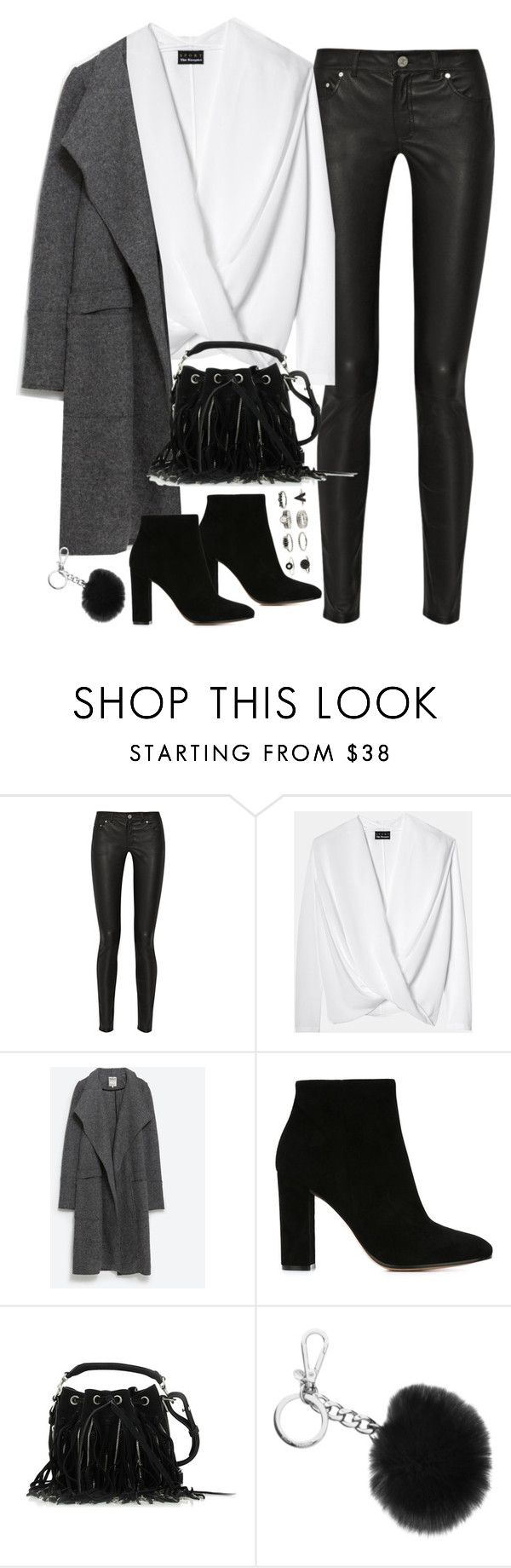 """Untitled#4268"" by fashionnfacts ❤ liked on Polyvore featuring Acne Studios, Zara, Gianvito Rossi, Yves Saint Laurent and Michael Kors"