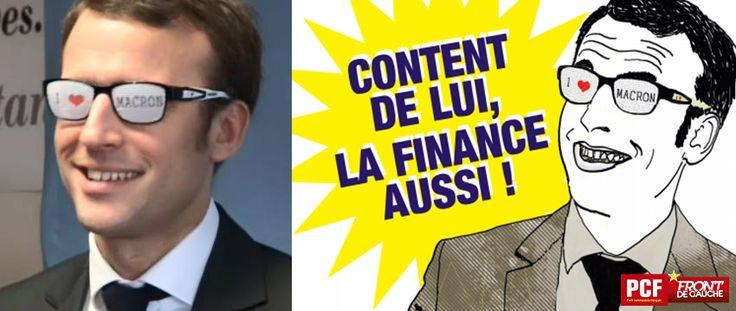 8 avril 2015 FB, 251 'Content de lui, la Finance aussi !!!!! #Grève9Avril #JaimePasMacron #JaimePaslAusterité'