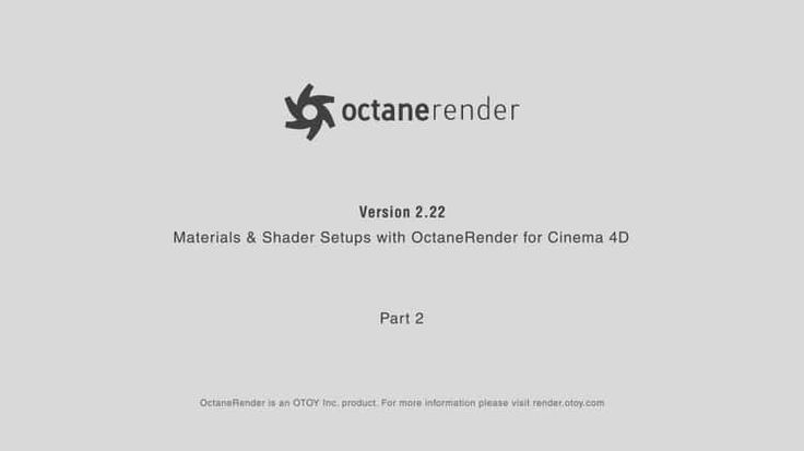 Materials and Shader Setups with Octane Render for Cinema 4D / Part 2