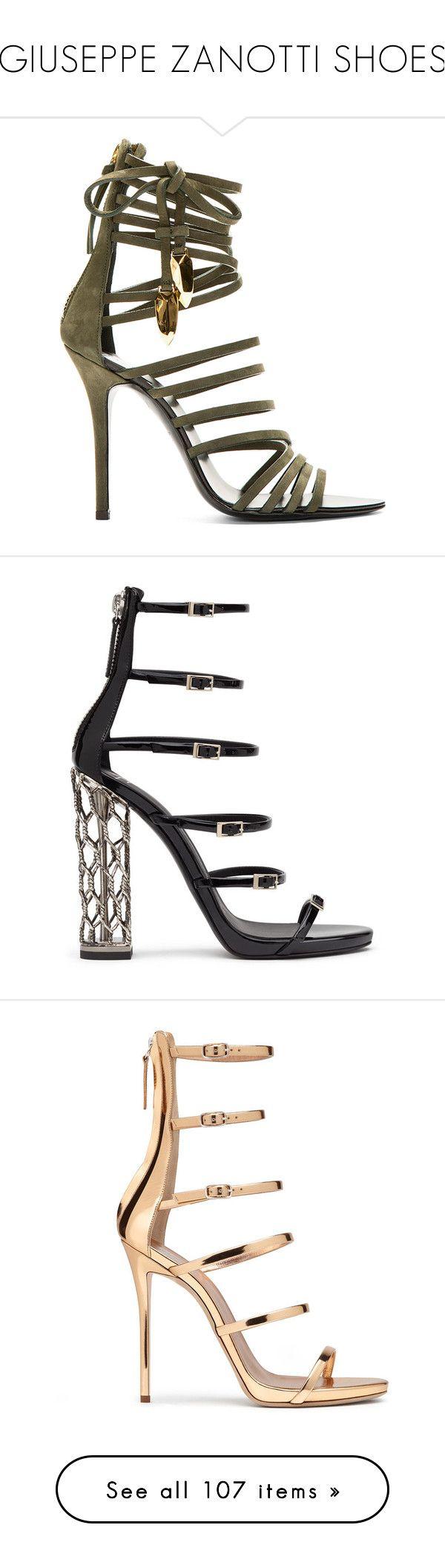 """GIUSEPPE ZANOTTI SHOES"" by khavac ❤ liked on Polyvore featuring shoes, sandals, heels, giuseppe zanotti, high heeled footwear, high heel gladiator sandals, strap heel sandals, tie gladiator sandals, strappy high heel sandals and kohl shoes"
