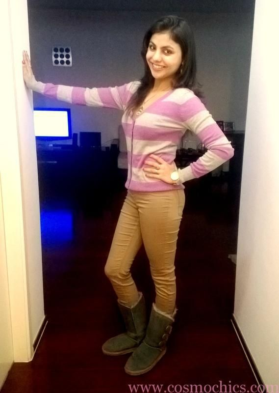 Glam Up This Winter With Your Favorite Sweater Top & Khaki Pants: Outfit of the Day