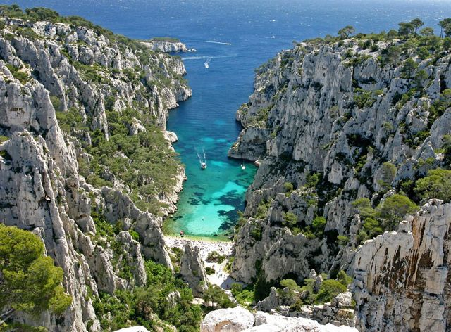 Parc National des Calanques in Marseille, France.     I would love to go there. Wouldn't you?