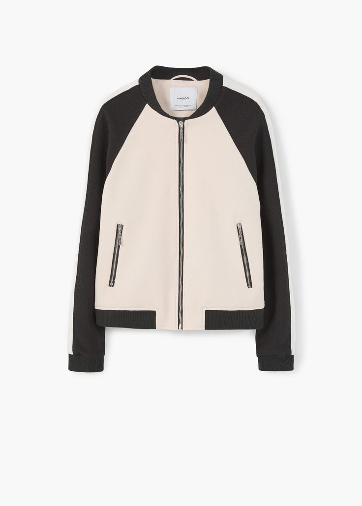 To break up the every day: Contrasting bomber | MANGO, $40