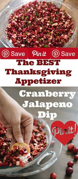 THE MOST ADDICTING HOLIDAY APPETIZER: SPICY AND SWEET CRANBERRY JALAPENO DIP #Important If Im honest I didnt expect to love it as much as I did. I dont even like cranberries! But please believe me when I tell you that when my sweet friend made it for us I ate more than half of the entire plate (yes I was totally that girl at the party.)Shortly after I made this appetizer for a surprise birthday party where a mob of people surrounded it until it was completely gone (some ate more than others…