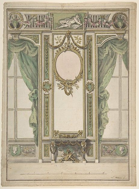 Workshop of Leonardo Marini (Italian, ca. 1730–after 1797). Design for a Palace Interior, 1730–1797. The Metropolitan Museum of Art, New York. Gift of Leon Dalva Sr., 1965 (65.654.36).