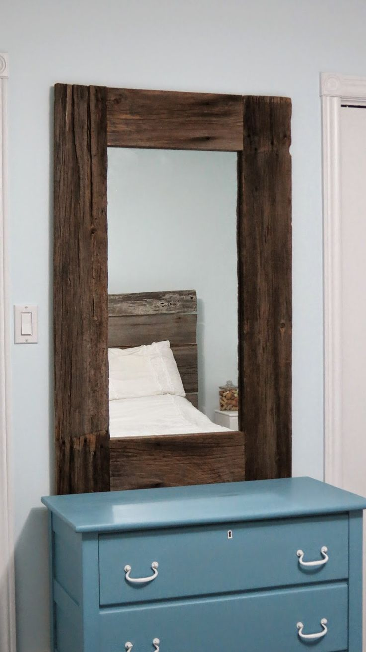 Yellow Cottage Furniture: Rustic Reclaimed Barn Board Mirror