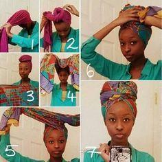 Enrouler un foulard sur la tête