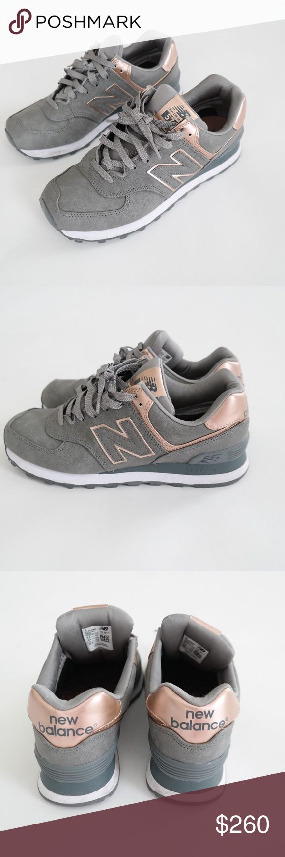 Limited Edition New Balance 574 in Rose Gold An amazing pair of limited edition New Balance 574 in grey with metallic rose gold. Worn only a handful of times, therefore in EXCELLENT condition. These are not available on the market anywhere! New Balance Shoes Sneakers