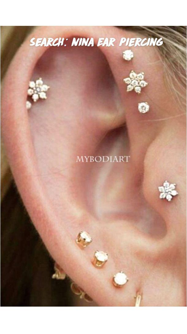 Ear Piercing Studs, Ear Piercings Tragus, Cute Ear Piercings, Multiple Ear Piercings, Cartilage Earrings, Ear Peircings, Tongue Piercings, Earring Studs, Round Earrings