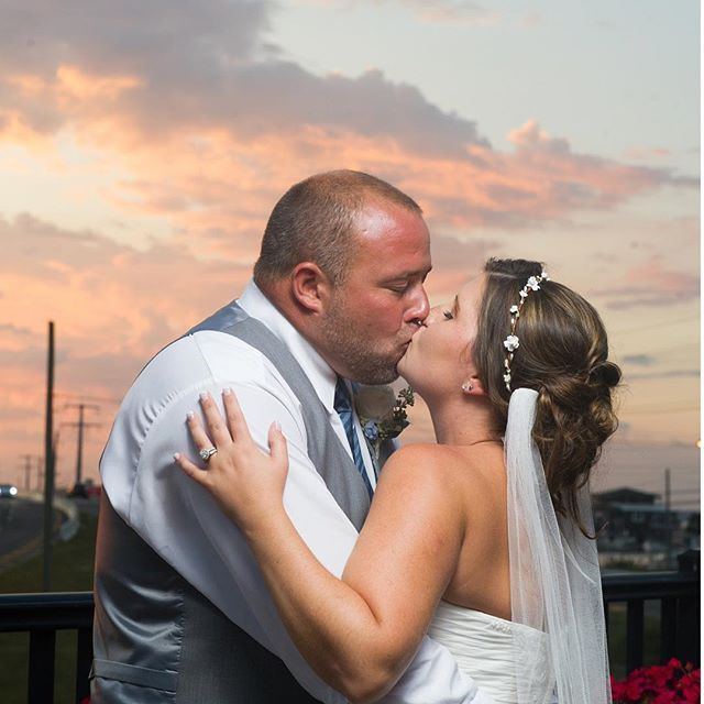 The first sunset as Mr & Mrs! Reynolds Florist LBI | Bonnet Island Estate Wedding | Barnegat Light Wedding Photos | NJ Wedding Ideas | NJ Beach Wedding | Weddings of Distinction | NJ Wedding Venues | LBI Wedding | LBI |  Long Beach Island Photos | LeAnna Theresa Photography