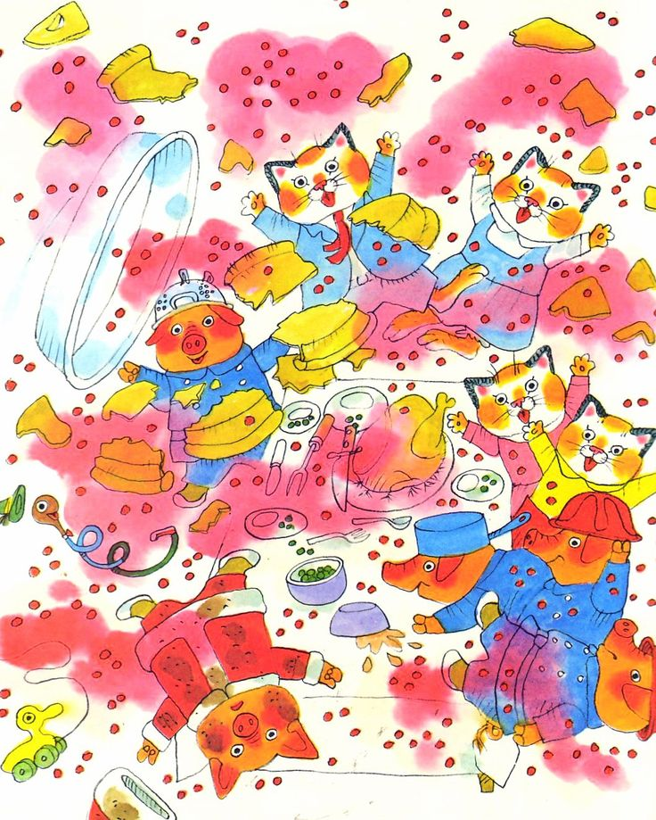 Exploding cherry pie! From Richard Scarry's Best Christmas Book Ever!