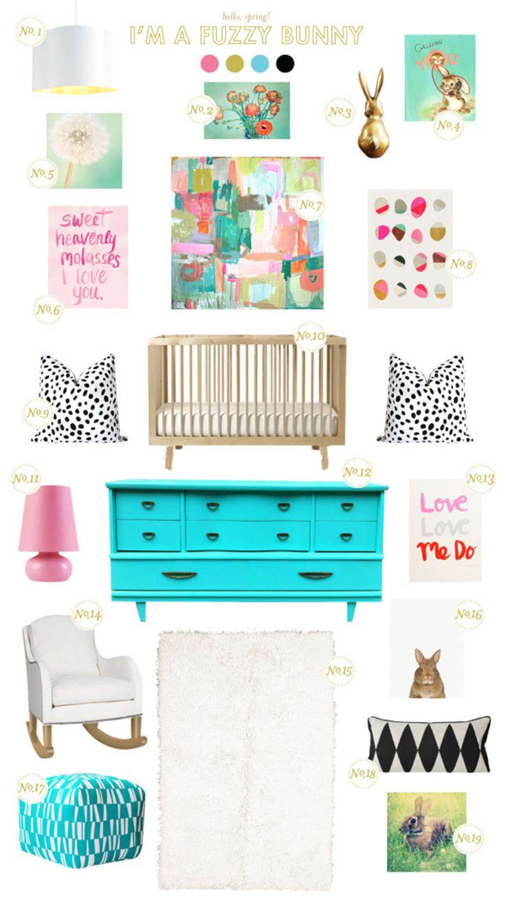 Bunny Baby Nursery Inspiration   – Bebé y casa
