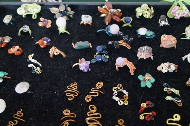 This wonderful selection of #handmade #wire wrapped rings was brought by Helen of Alphenia Jewellery, at our artisan market on the 26th July @TheFlorrie