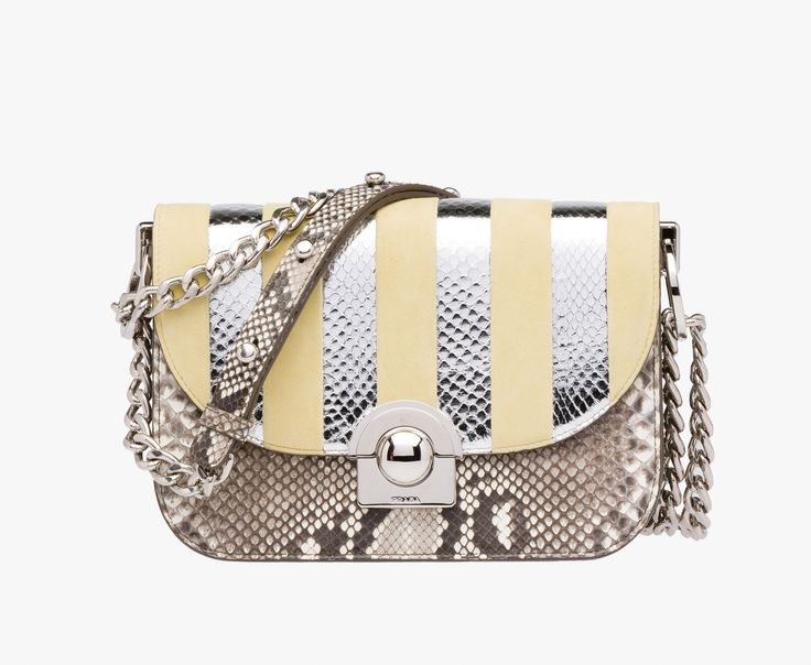 Prada Woman - Prada arcade bag - Stone gray + lemon yellow ... - prada arcade bag black