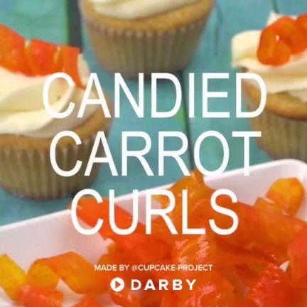DIY Candied Carrot Cupcake Curls #diy #baking #recipe #darbysmart
