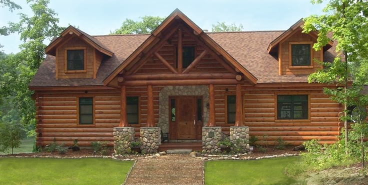 Log And Cedar Shake Exterior With Stone Accents And A Log
