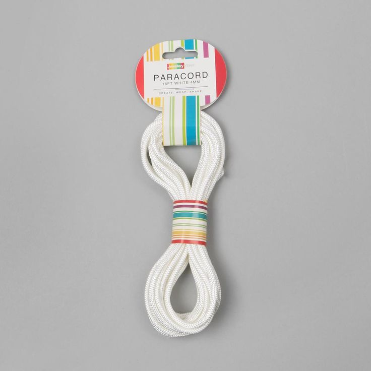 This White Paracord is perfect for new & exciting Macramé designs.