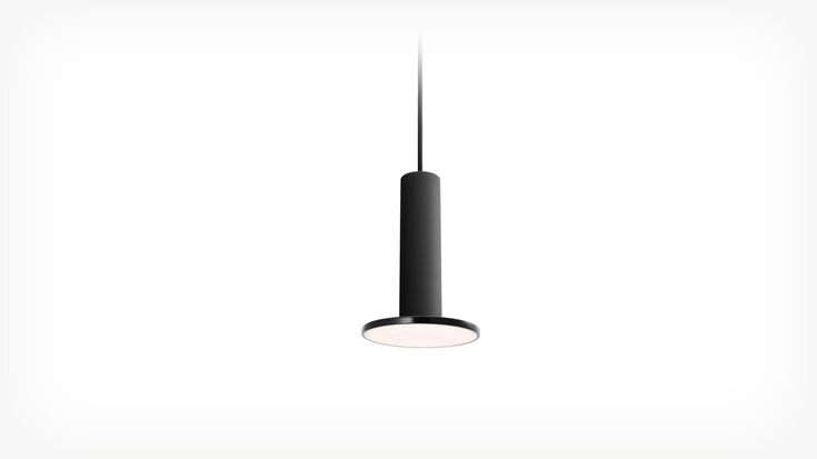 """Cielo Pendant Light   EQ3 Modern Furniture  3380-302-1 - Cielo Pendant Lamp - Black 6""""w x 6""""d x 9""""h  Pablo's Cielo Pendant Light provides perfectly balanced and warm illumination in a simple and expressive silhouette."""
