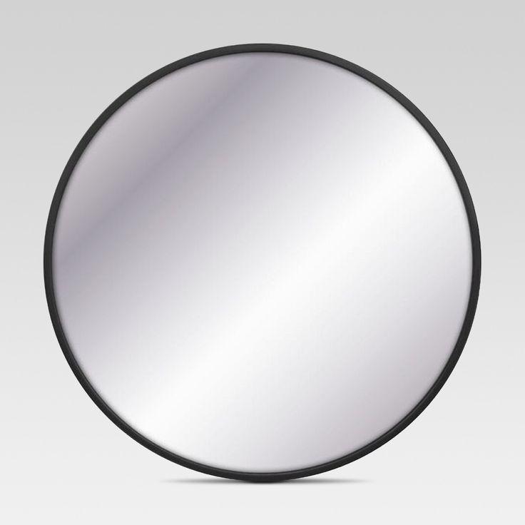 Decorative Circular Large Wall Mirror - Black - Project 62, Brass