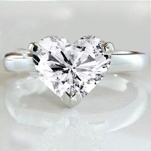 I have always wanted a heart shaped diamond and this size is good, but the cut isn't my ideal...