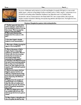 Psychology The Aviator Movie Guide with KEY for abnormal unit