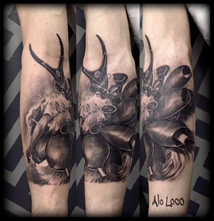 Alo Loco http://www.alo-loco.com Work in Progress #full #sleeve black and grey #sardinian #carnival #mask,  Su Boe, Sardegna,  https://www.facebook.com/AloLocoTattoo/ https://instagram.com/alolocotattoo https://uk.pinterest.com/alolocotattoo #London #tattoo #artist #londontattooartist #coverup #half  #portrait #Londontattoo #artist #suboe #lovers #ink #best #inkstagram #tattoos #studio #uktattooist #tattooartist #aloloco #blackandgrey #sleeve #realism #girl #best #worldtattoo #ink…