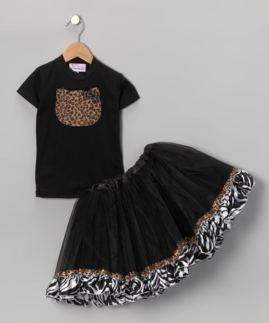 Take a look at this Black Leopard Kitty Tee & Tutu - Infant, Toddler & Girls by The Princess and the Prince on #zulily today!: Mom Baby, Kitty Tees, Sparkle Couture, Baby Bows, Toddlers Girls, Leopards Kitty, Bello Stuff, Daily Deals, Black Leopards