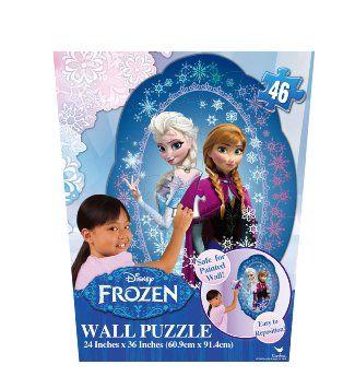 Casse-tête puzzle sur le mur Frozen, 46 pièces, 3+ ans. 17.99$  Disponible en boutique ou sur notre catalogue en ligne. Livraison rapide au Québec.  Achetez-le info@laboiteasurprisesdenicolas.ca