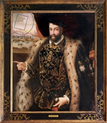 A Nobleman (oil on canvas)  Title:  French School, (16th century)