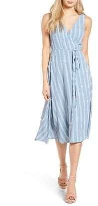 Shop Now - >  https://api.shopstyle.com/action/apiVisitRetailer?id=638382573&pid=uid6996-25233114-59 Women's Privacy Please Wilson Wrap Midi Dress  ...