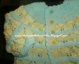 Das Mãos da Teresinha: Casaco de tricô para bebé - tamanho 1 - 4 meses