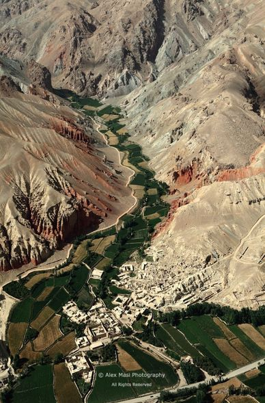 A village located along the Hindu Kush, the mountain range crossing Afghanistan and separating Kabul from Bamiyan.