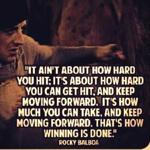 """Starting Over: """"Ain't gonna be no rematch"""" -Apollo Creed (Rocky)"""