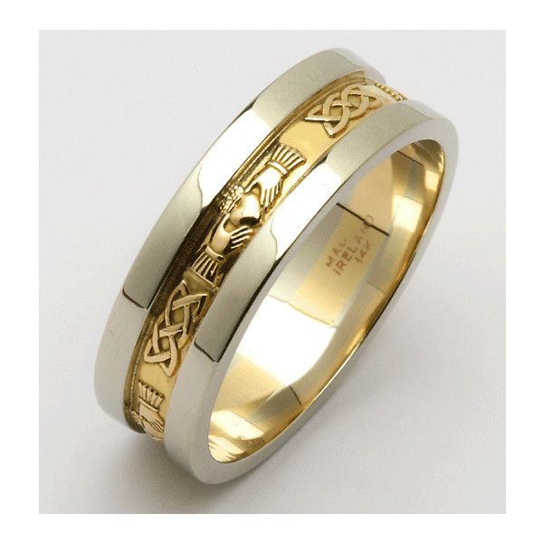 unique mens wedding rings - from Classics To Modern |... ($2,513) ❤ liked on Polyvore featuring men's fashion, men's jewelry, men's rings, rings, mens rings, mens diamond band wedding ring, mens watches jewelry and mens wedding rings
