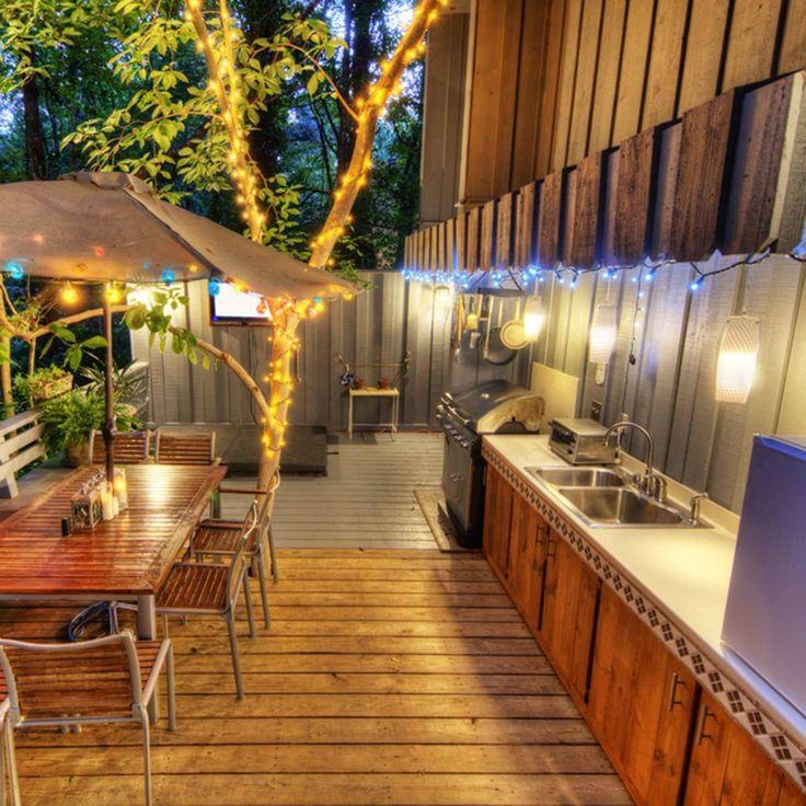 Outdoor String Lights Around Pool: 462 Best The Backyard & Garden Images On Pinterest