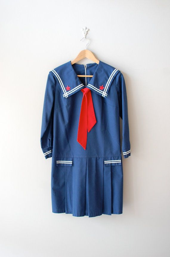 vintage 1960s Ships Ahoy mini dress | https://www.etsy.com/listing/102573254/1960s-dress-sailor-60s-mini-dress-ships