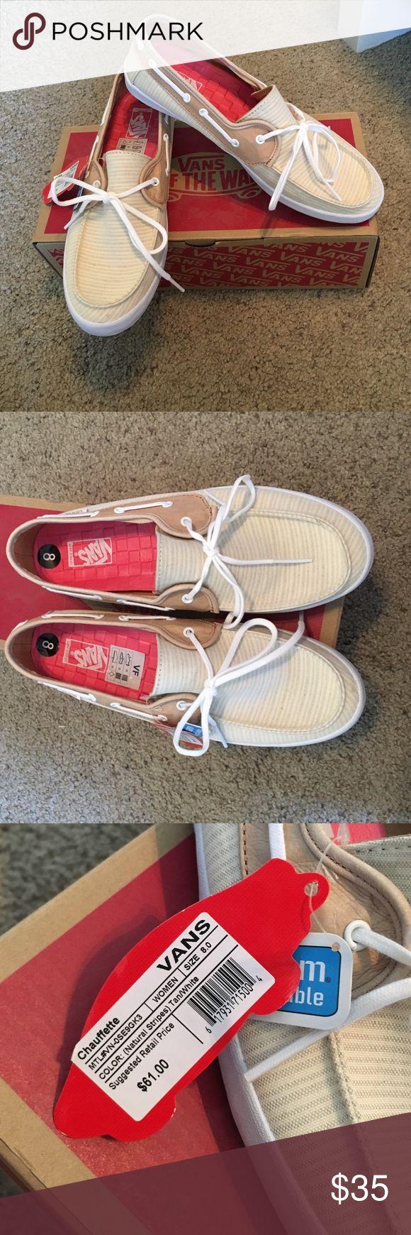 VANS boat shoes. Brand new, never worn, foam inserts. Vans Shoes Sneakers