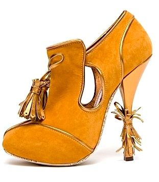 john galliano suede platform booties